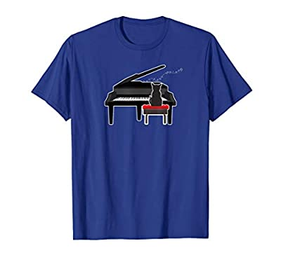 Cat Playing Piano Music Lover Funny T Shirt