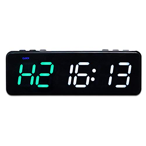 Kacsoo Temporizador Fitness Timer Gym Timer Magnético Temporizador Portátil Mini Timer con Bluetooth App Control para Home Gym Fitness Workout Mini Shape 11 Modos Fuente Grande (Verde y Blanco)