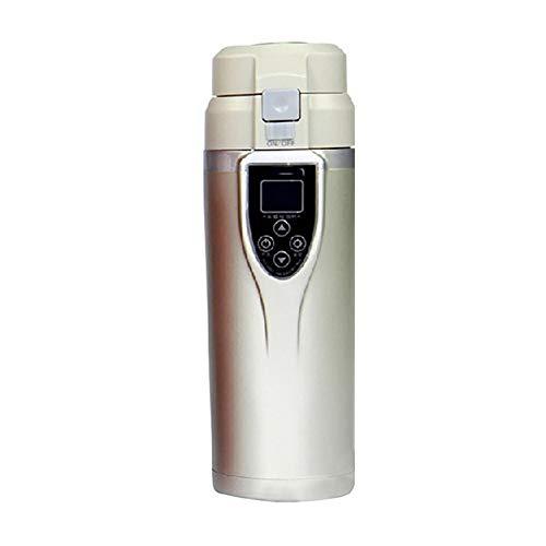Blanco Coupelle de cabine de rappel avec fonction de consommation /Écran tactile LCD Acier inoxydable isol/é sous vide Thermos Cup Topmate Bouteille intelligente avec affichage de la temp/érature