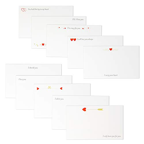 Clearstory From Me To You Love Notes For Him And Her, Elegant Small Cards...