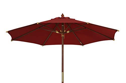 Kai Wiechmann Sonnenschirm Sunshine ø 300 cm Garten, rot, UV-Schutz 50+ ✓ mit Windauslass ✓