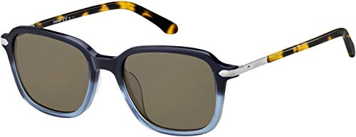 Fossil Mens Sunglasses FOS2095 (Blue Shaded, Brown)