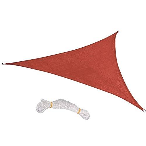 W.Z.H.H.H Shade Vela La Cortina de Sun Sail Triángulo del pabellón Pérgolas Cubierta Superior Permeable UV Bloque Tela Resistente al Aire Libre Tela de Sombra Solar (Color : Rust Red, Size : 5ft)
