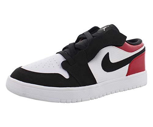 Nike Jordan 1 Low Alt (PS), Scarpe da Ginnastica Basse Bambino, Multicolore (White/Black/Gym Red 116), 35 EU
