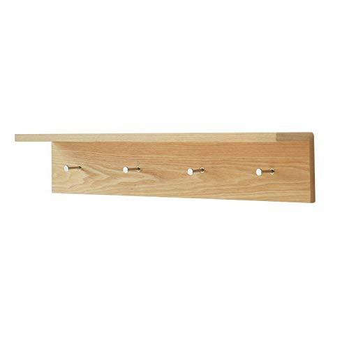 Kewei Blumenständer-Aufhänger aus Massivholz, L-förmig, Wandhalterung, Regale, modern, minimalistisch (2/3/4 Hakenreihe optional), 30 cm, Farbbezeichnung: 30 cm + 45 cm + 60 cm Regalregal 60 cm
