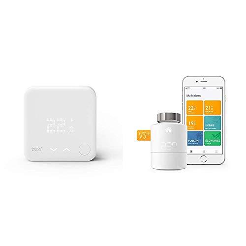 tado° Termostato Intelligente - prodotto aggiuntivo per il controllo multi-stanza, gestione intelligente del riscaldamento &  Termostato Intelligente Kit di Base V3+
