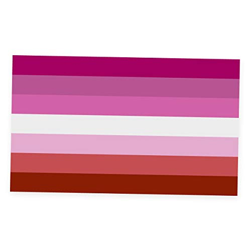 Applicable Pun Lipstick Lesbian Flag - Vinyl Decal Sticker - 4 Inches Wide