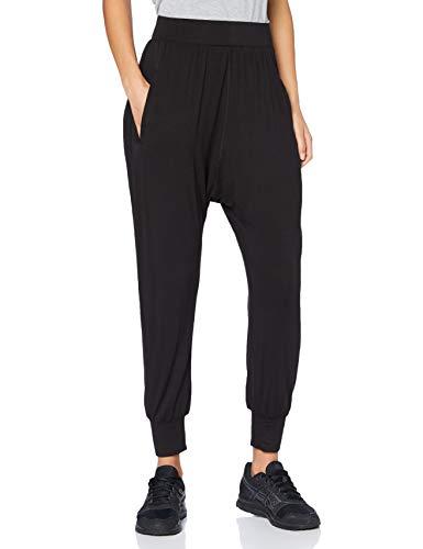 AURIQUE Pantalón Tiro Caído Mujer, Negro (Black), X-Small