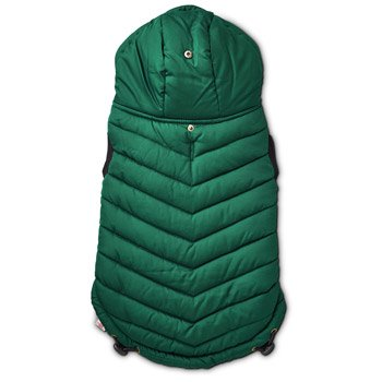 Good2Go Green Quilted Dog Parka, X-Large