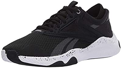 Reebok Women's HIIT Training Shoe Cross Trainer, Black/White, 7.5 M US