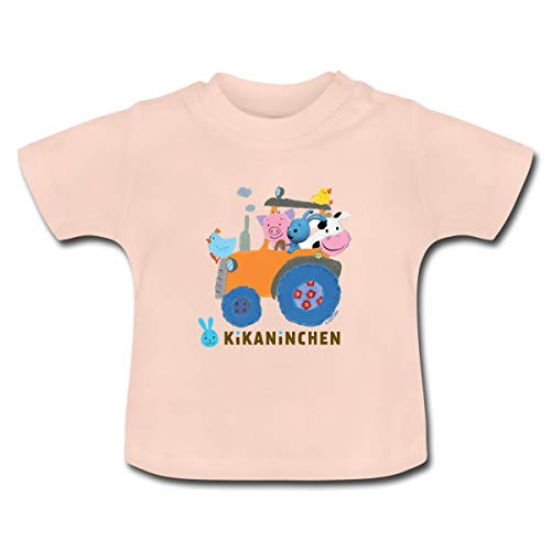 KiKANiNCHEN Kaninchen Ausflug Mit Traktor Baby T-Shirt, 3-6 Monate, Kristallrosa
