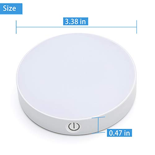 Dimmable Touch Light | WILLED Buit-in 1000mAh Large Battery Rechargeable LED Tap Lights | Magnet Stick on Closet Light | Portable LED Puck Night Lights for Cabinet, Wardrobe, Counter, Kitchen, Bedroom