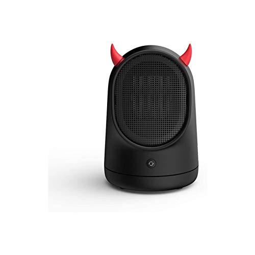 Minicalefactor eléctrico de ambiente eléctrico portátil, con protección contra sobrecalentamiento y protección multiteclas, 2 segundos, pequeño y silencioso, para oficina y hogar, 500 W BL