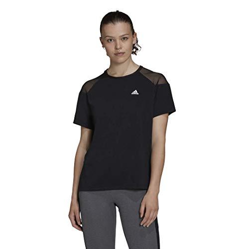 adidas Unleash Confidence T-Shirt, Nero/Bianco, M Donna