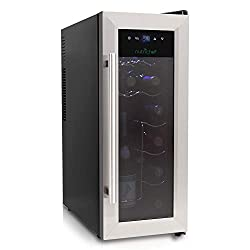 NutriChef 12 bottle countertop wine cooler