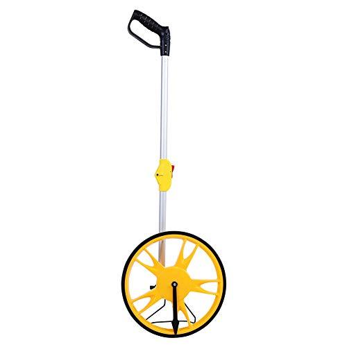 Rueda de medición, rueda de medición de distancia mecánica con mango plegable, medida de carretera, constructores de tierra y trabajadores