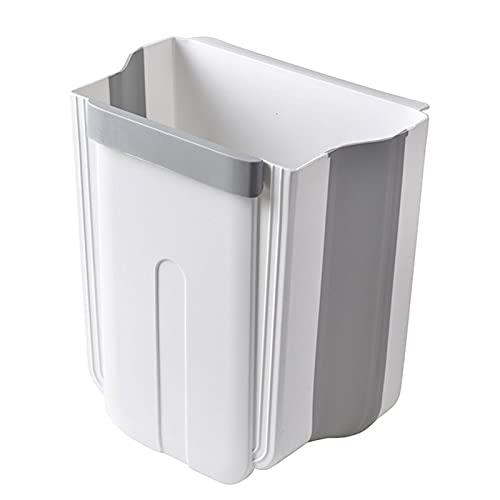 VNUWFM Cubo De Cocina Cubos De Basura Montados En La Pared Botes De Basura Plegables para El Hogar Cocina Baño Armario Puerta Contenedor, 8L,Blanco
