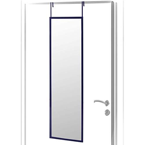 Espejo para Puerta Moderno, Acabado Brillo de PVC, para Dormitorio, sin Agujeros - Hogar y Más - Azul