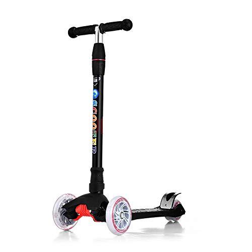 LITIAN Einstellbare Scooter für Kinder Scooter Flash-Scooter Black