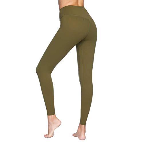 YUJIAKU Frauen-Yoga-Hosen Feste hohe Taille drücken Energie Nahtlose Sport Enge Gamaschen für Fitness-Studio Laufen Bauch Kontrolle Hose