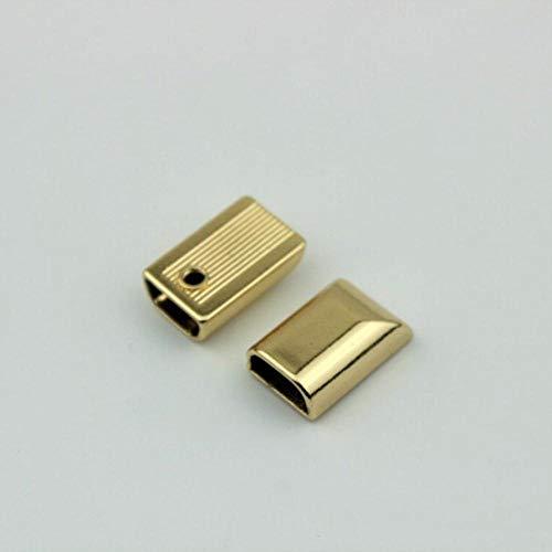 HJCWL 10 Stks 17mm Metalen Rits Trek Rits Staart Clip Gesp S Staartkop Hoofd Met Schroef DIY Tas Lederen hardware Leer Ambacht, Goud, 5#