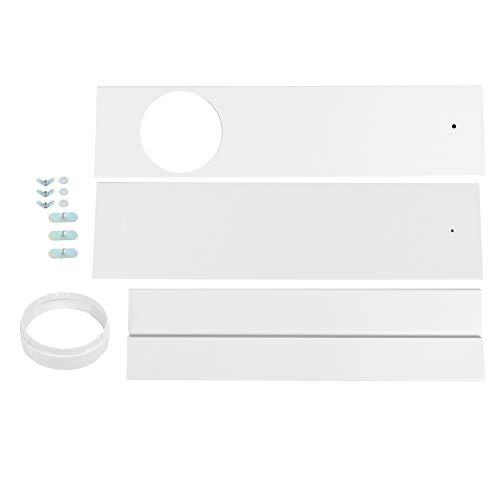 Jacksing Kit d'évent de fenêtre de climatiseur Portable, Ensemble de Joint de fenêtre, déflecteur d'attelle de Plaque d'étanchéité de fenêtre réglable pour climatiseur Portable Universel(3PCS)