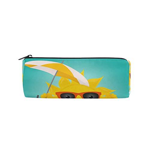 BONIPE Hello zomer zonnebril Emoji paraplu etui zak zak school briefpapier pen doos rits cosmetische make-up tas
