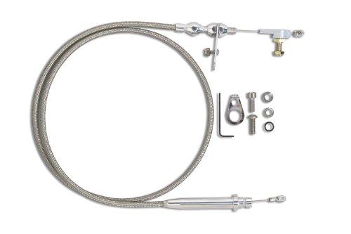 Lokar KDP-2350HT Hi-Tech Polished Kickdown Cable for GM 350 Transmission