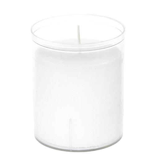 Countryfield 24h-Windlichtkerze Acrylglas XL-Teelicht weiß Einzelnd