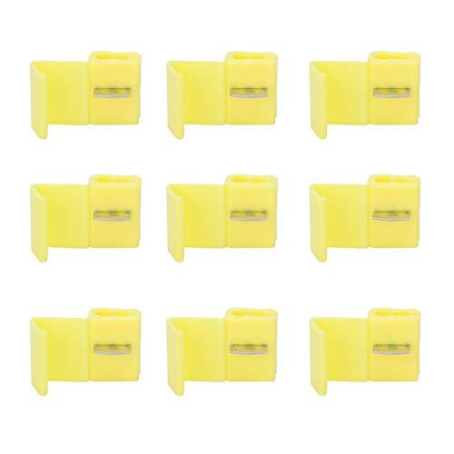 FECAMOS Conectores de crimpado de Empalme rápido de Alambre, Rama de Conector rápido Conector de Conector de Cable autodespegable Aislado(Red)