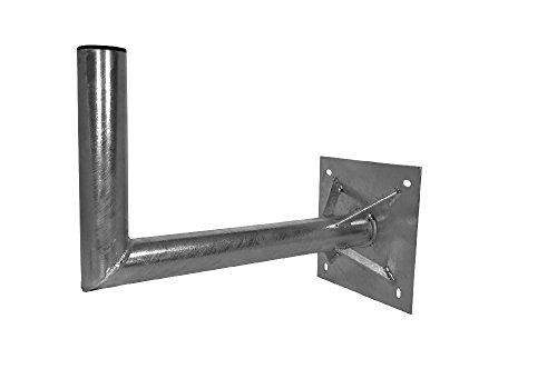 A.S.Sat 26500 wandhouder thermisch verzinkt staal 50 cm wandafstand 60 mm houderbuis met steun voor sat-antennes 120 cm