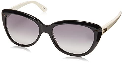 Lentes de sol Kate Spade New York Angelique, diseño de ojo de gato, Black & Cream Frame/Gray Gradient Lens, Talla unica