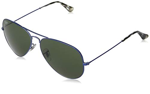 Ray-Ban Aviator Large RB3025-918731-62 Gafas, Blue/Metal, 62 Unisex Adulto