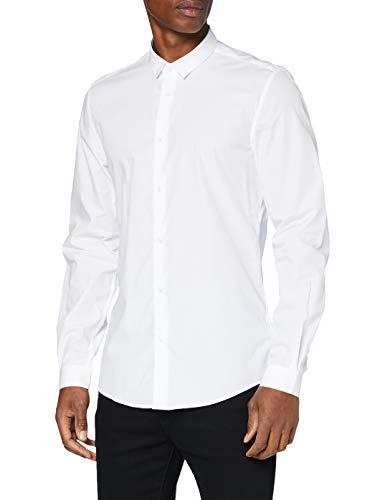 Antony Morato MMSL00632-FA400078-1000 Camicia, Bianco, 46 Uomo