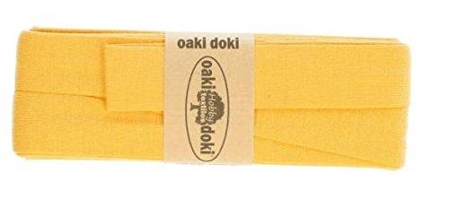 Oaki Doaki Jersey-Einfassband 3m, elastisches Schrägband, Breite: auf 2cm vorgefalzt, gelb (711)