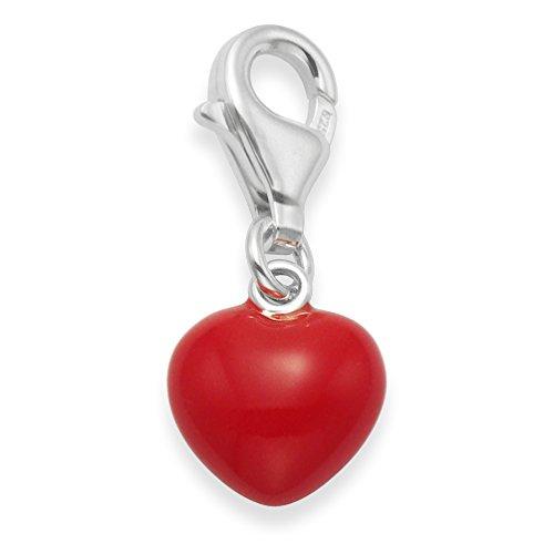 Caja de regalo de plata de ley–esmalte rojo corazón para Samsung Galaxy...