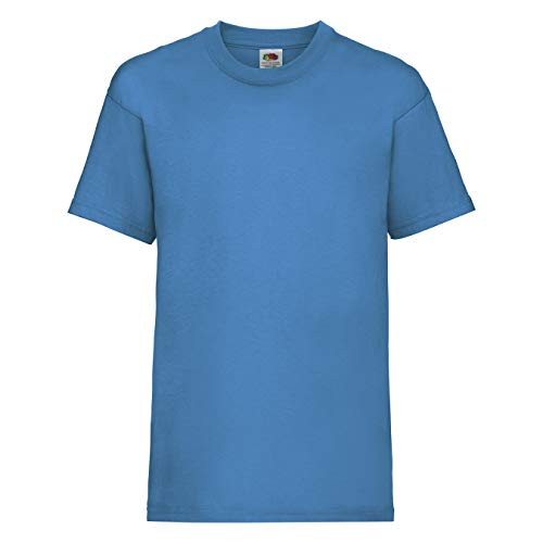 Fruit of the Loom Jungen T-Shirt, Azure, 7-8 Years