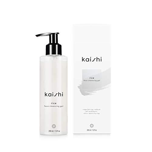 Kaishi - Reis-Gesichtsreinigungsgel - erfrischt, mattiert und sorgt für einen gleichmäßigen Hautton - 200ml