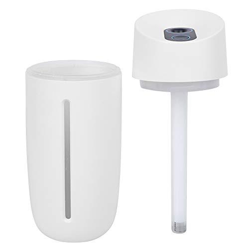 Vcriczk Humidificador purificador de Aire, humidificador de Aire atomizador de Aire, con USB Inferior Antideslizante Recargable para Relajarse, Trabajar, Dormir, Descansar(Blanco, 12)