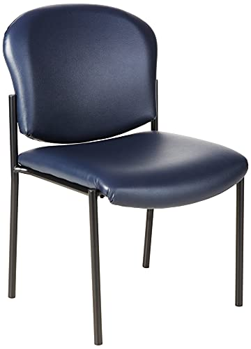 OFM Manor Series Armless Guest and Reception Chair, Navy