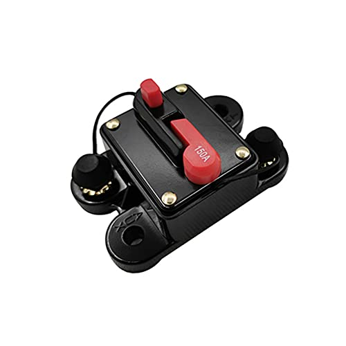 Swetup Auto Leistungsschalter, Automatische Sicherung Schalter Leistungsschalter Manuelle Rückstellung Sicherung 12V-24V DC Schutzschalter Reset Sicherung für Auto Marine Boat Bike Stereo Audio(150A)