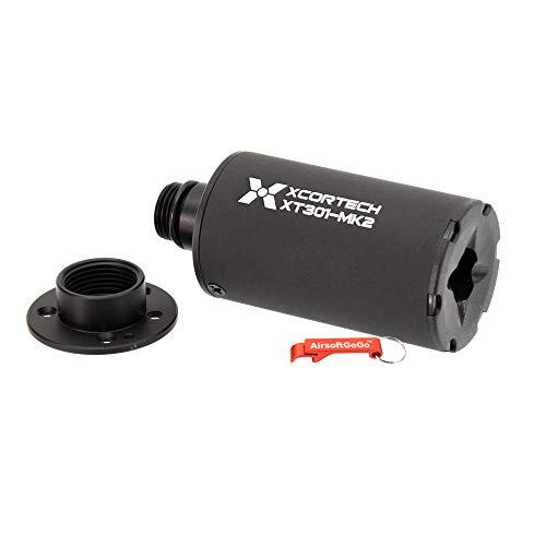 XCORTECH XT301 MKII Compact Airsoft BBS Unidad trazadora (11mm CW / 14mm CCW, Negro)