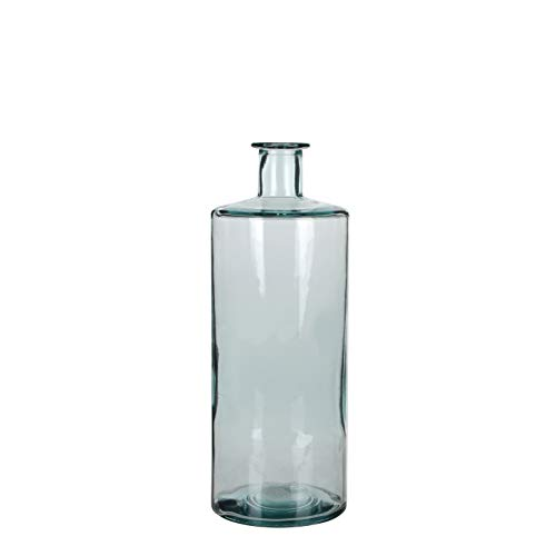 MICA Decorations Guan Flasche/Vase, Glas, transparant, H. 40 cm D. 15 cm