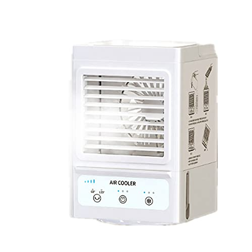 XHMJ Mini acondicionador de Aire, Material ABS, Ajuste de Velocidad de Viento de Tres Niveles, bajo Nivel de Ruido Recargable, Adecuado para Dormitorio/Oficina, etc, 6 White