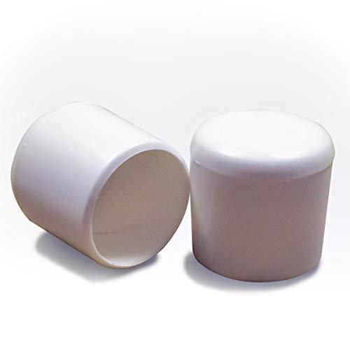 Lot de 4 pi/èces Ajile/® Embout enveloppant pour tube diam 20 mm avec semelle en feutre anti-bruit et anti-rayure pour pied de chaise