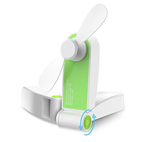 Mini Ventilatore Pieghevole GeeRic USB Ventilatore da Tavolo Silenzioso Portatile Ventilatore da Scrivania Mini Fan per la Casa Ufficio Campeggio Biblioteca Viaggio Verde