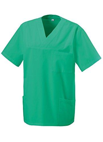 Schlupfkasack Kasack Schlupfjacke Schlupfhemd für Medizin und Pflege OP-Kleidung Grün Gr. 5XL