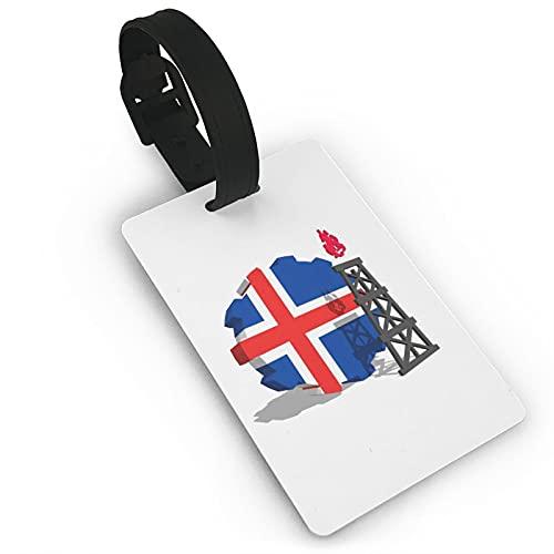 Etiquetas para equipaje de viaje con bandera de Islandia para maleta, etiquetas de identificación, etiquetas para bolsos y maletas