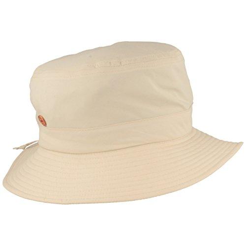 Mayser Outdoor Fischer-Hut | Bucket-Hat | Sonnen-Hut – UV Schutz 60, Wasserabweisend, Windabweisend, Waschbar, Ultra Leicht - Natur- L