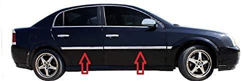 Para Vectra C 2002-2008 cromo puerta lateral serpentín moldeado protector de acero inoxidable 4 piezas